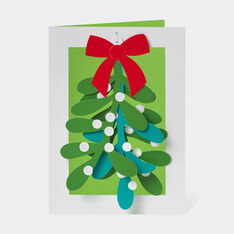 Mistletoe Holiday Cards in color