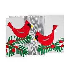 Winter Cardinal Holiday Cards in color