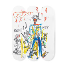 Basquiat Robot Triptych Skateboards in color