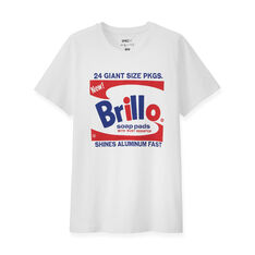 UNIQLO Andy Warhol Brillo Box T-Shirt Large in color White