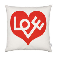 Alexander Girard Love Pillow in color