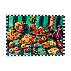 Seletti Wears Toiletpaper Rug: Food with Holes in color