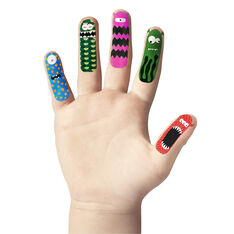 Monster Finger Tattoos in color