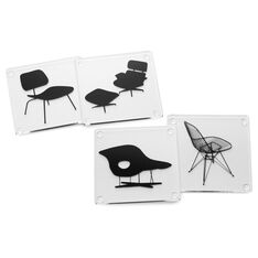 Eames® Chair Coasters in color