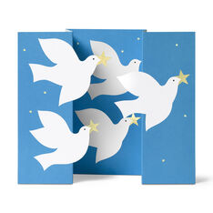 Soaring Doves Holiday Cards in color