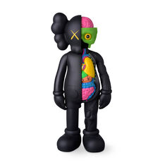 KAWS COMPANION Flayed Black in color
