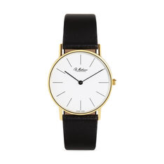 Gold Lines Watch in color White