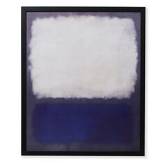 Rothko: Blue And Grey Framed Print in color