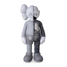 KAWS COMPANION Flayed Gray in color