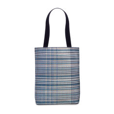Chilewich Zips & Totes - Blue Grid Tote in color
