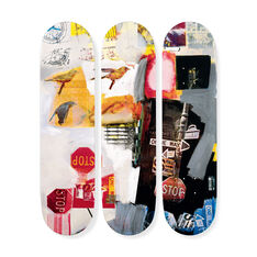 Robert Rauschenberg: Skateboards Overdrive Triptych in color