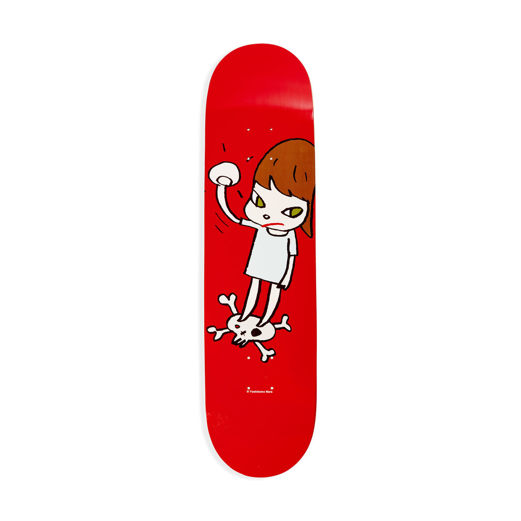 Yoshitomo Nara: Solid Fist Skateboard in color