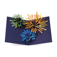 Sparkling Fireworks Holiday Cards in color