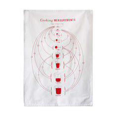 Cooking Measurements Tea Towel in color