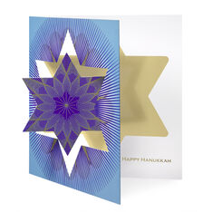 Hanukkah Star Holiday Card in color