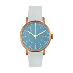 Blue And Rose Gold Horizon Watch in color