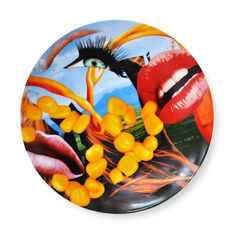 Jeff Koons: Lips Plate in color