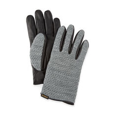 Leather Touch Gloves Gray and Black Large in color Gray