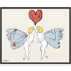 Warhol: I Love You So (Angel) Framed Print in color
