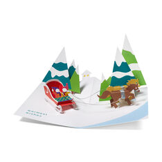 Pop-Up Over the River Holiday Card in color