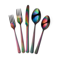 Rainbow Flatware in color