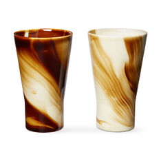Marbled Coffee Tumbler Set in color