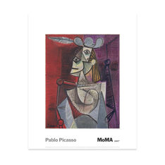 Picasso: Woman In  An Armchair Print in color