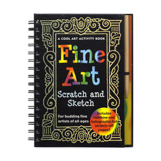 Fine Art Scratch and Sketch: A Cool Art Activity Book for Budding Fine Artists of All Ages in color
