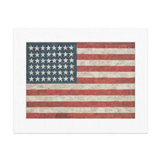 Matted Print  Johns: Flag in color