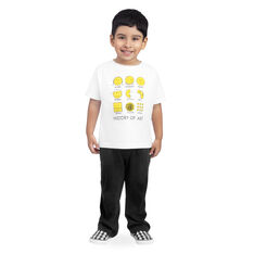 History Of Art Kids T-Shirt 5/6T in color White/ Yellow