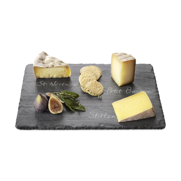 slate cheese board with chalk amazon bed bath and beyond rope handles color