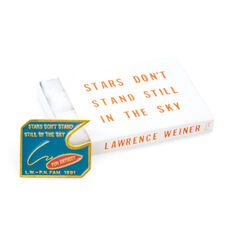 Lawrence Weiner: Untitled (Stars Dont Stand Still in the Sky for Anybody pin) in color
