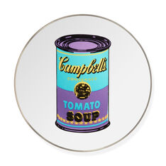 Andy Warhol Soup Can Plate- Purple in color Purple