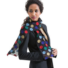 Polka Dot Scarf in color