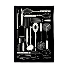 Utensils Tea Towel in color