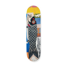 Robert Rauschenberg: Double Luck Fish Skateboard in color