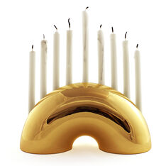 Gold Nosh Menorah in color