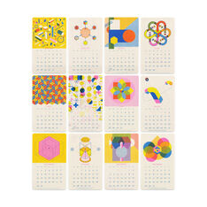 2019 Isometric Wall Calendar in color