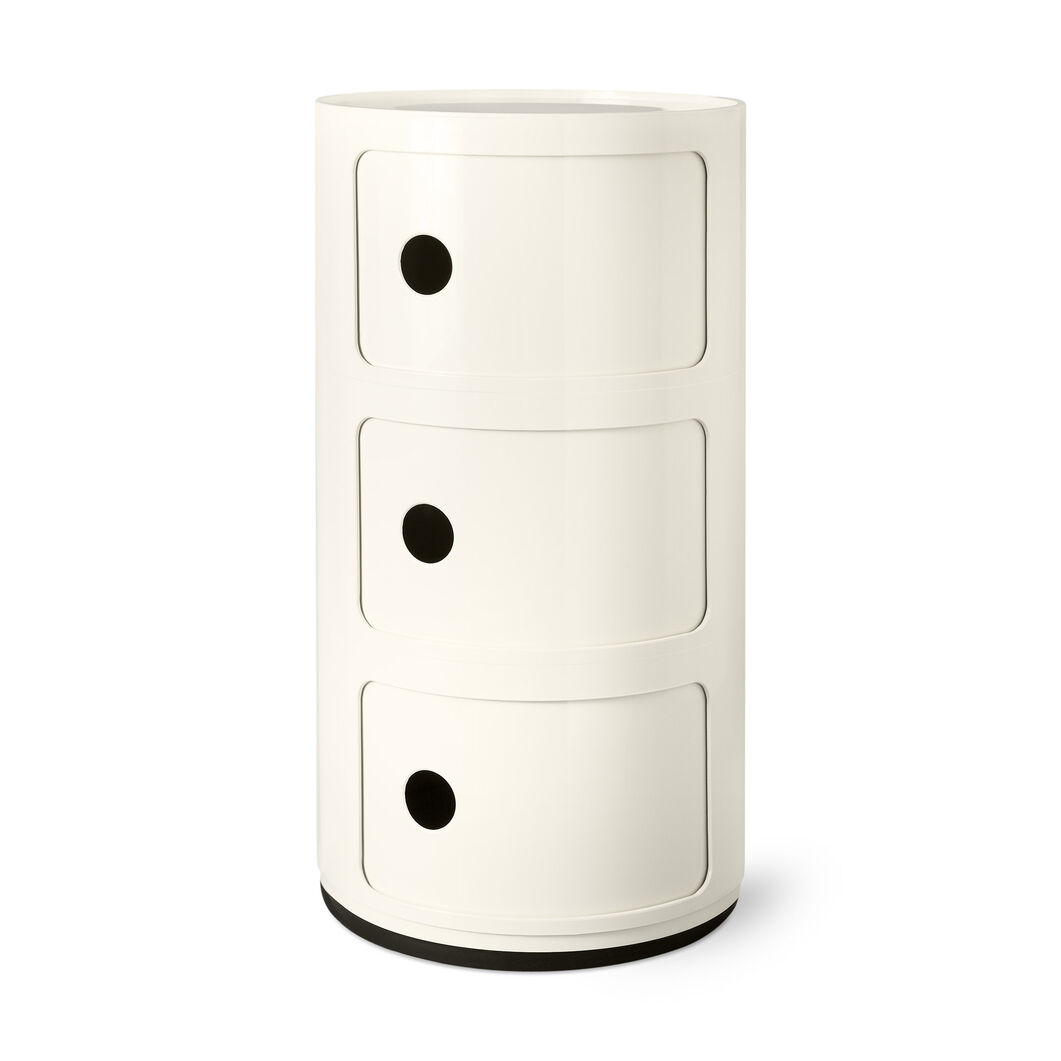 Componibili 3 Tier by Kartell in color White