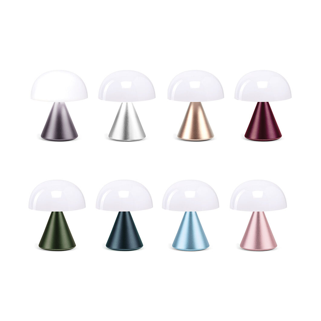 Lexon Mina LED Portable Lights in color Deep Purple