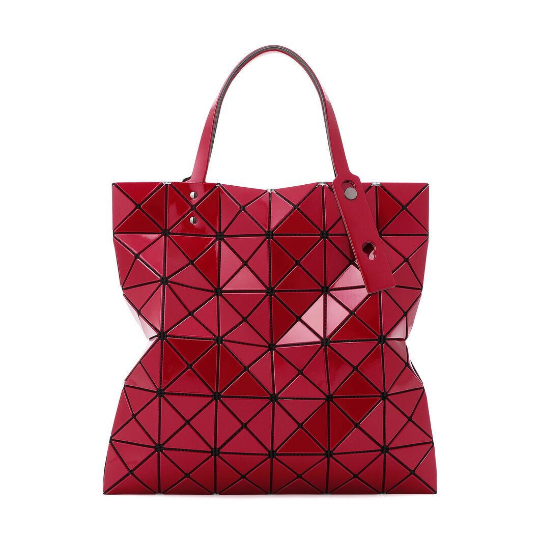 BAO BAO ISSEY MIYAKE Lucent Metallic Tote Bag in color Red