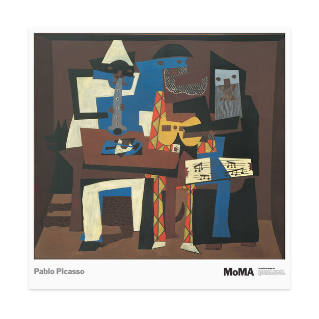 Poster Picasso: Three Musicians in color