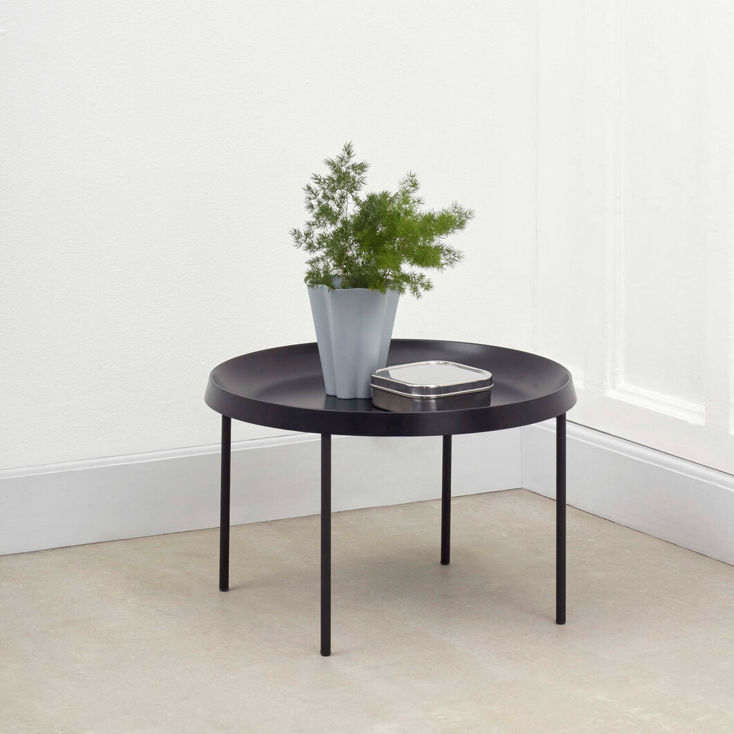 HAY Tulou Round Coffee Table in color Black