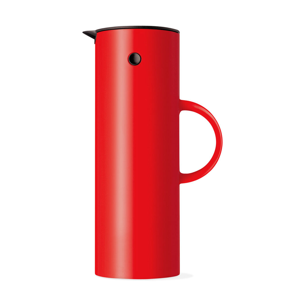 Stelton Vacuum Jug Red in color