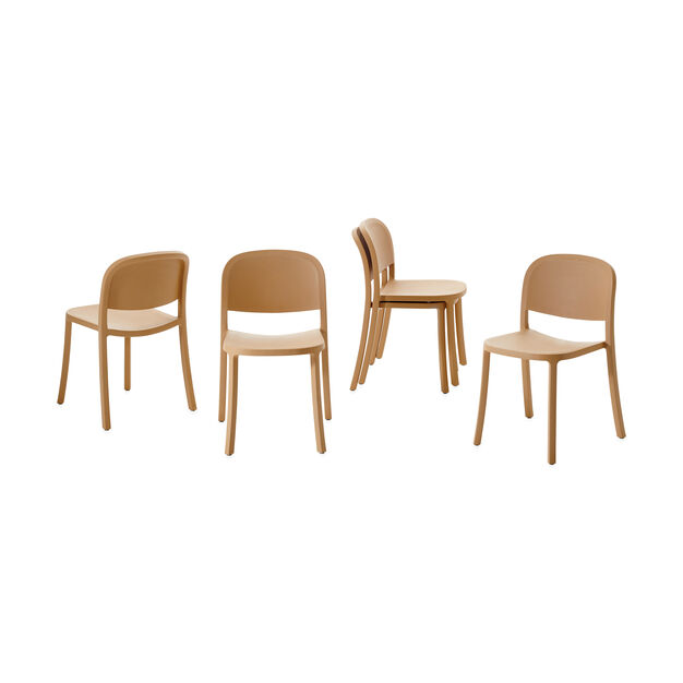 Emeco 1 Inch Reclaimed Stacking Chair in color Sand