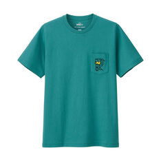 UNIQLO Jean-Michel Pocket Crown T-Shirt in color Dusty Blue