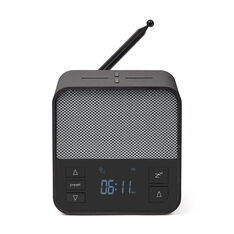 Lexon Oslo News Lite Alarm Clock Radio & Charging Station in color Gray