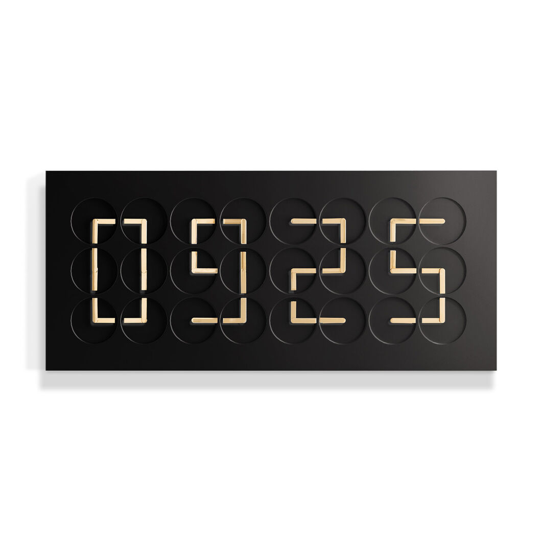 ClockClock 24 in Black with Gold Hands in color