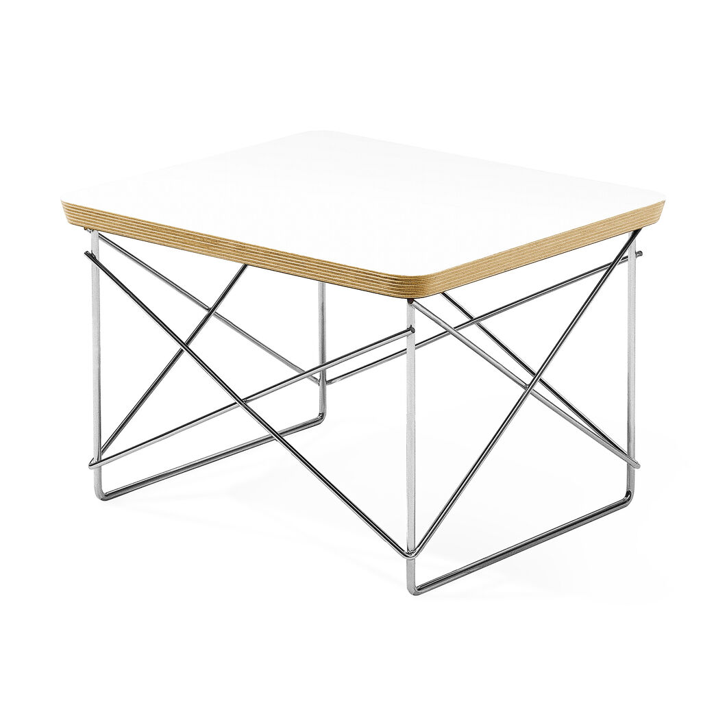 Wire Base Table in color White