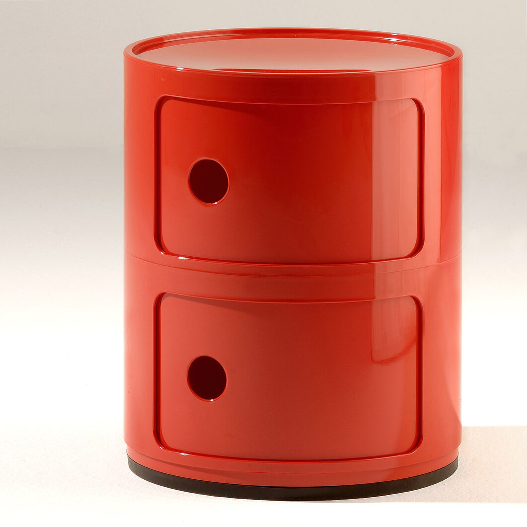 Kartell Componibili 2 Tier Storage in color Red